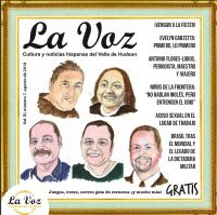 Portada de la revista La Voz de agosto 2014. Retratos del artista Héctor Simonetti de los cinco premiados por La Voz por ser inspiradores de nuestra comunidad.