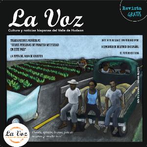 Imagen de la tapa de La Voz febrero 2015, arte de Tona Wilson.