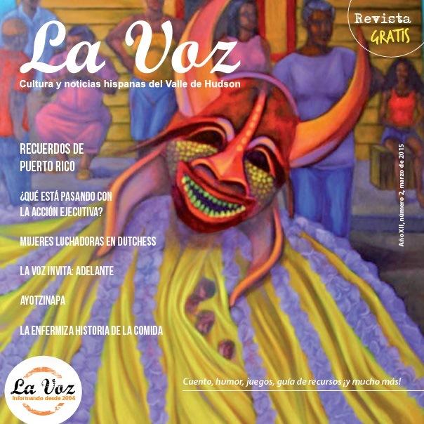 Portada de La Voz de marzo 2015, imagen del artista Pablo Shine.