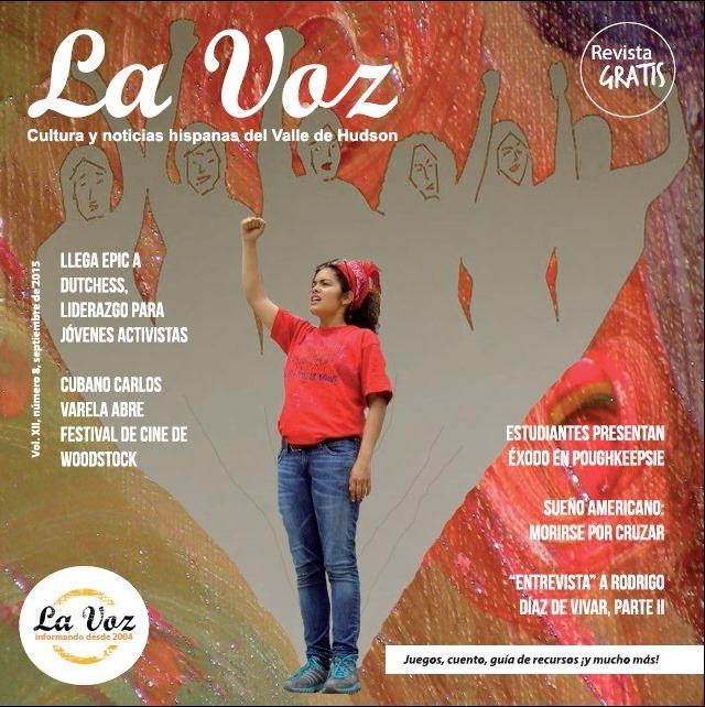 Imagen de la tapa de La Voz de septiembre 2015 por Andrés Chamorro