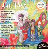 Imagen de la portada de La Voz de Mayo 2016, por la illustadora Charlene Eckels Rodriguez