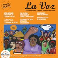 Imagen de la portada de La Voz de marzo2017, Mujeres luchadoras, a cargo de la artista cubana Maria Victoria de Bernard