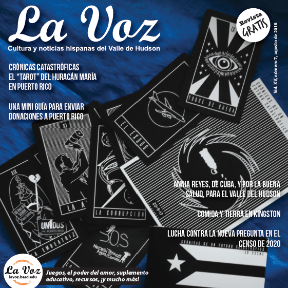 Imagen de la portada de La Voz de agosto de 2018, por la artista Jo Cosme