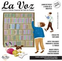 Imagen de la portada de La Voz de noviembre 2018 por la artista Pila Roca Requena