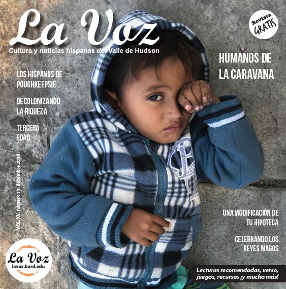 Imagen de la portada de La Voz de diciembre, foto de Britt Shacham