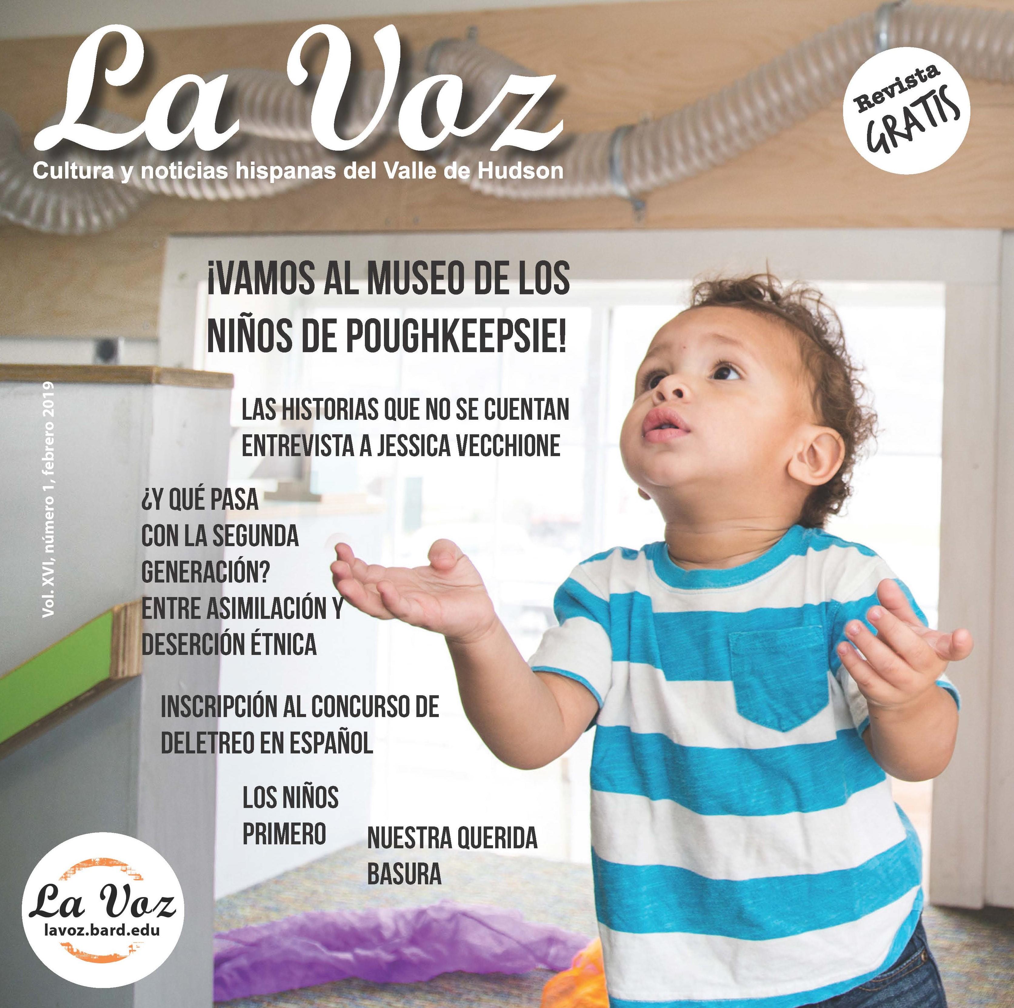 Imagen de la portada de La Voz, febrero 2019, foto créditoHudson Valley Children's Museum