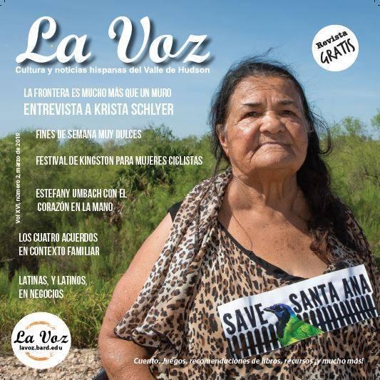 Imagen de la portada de La Voz, marzo 2019, foto crédito Krista Schlyer