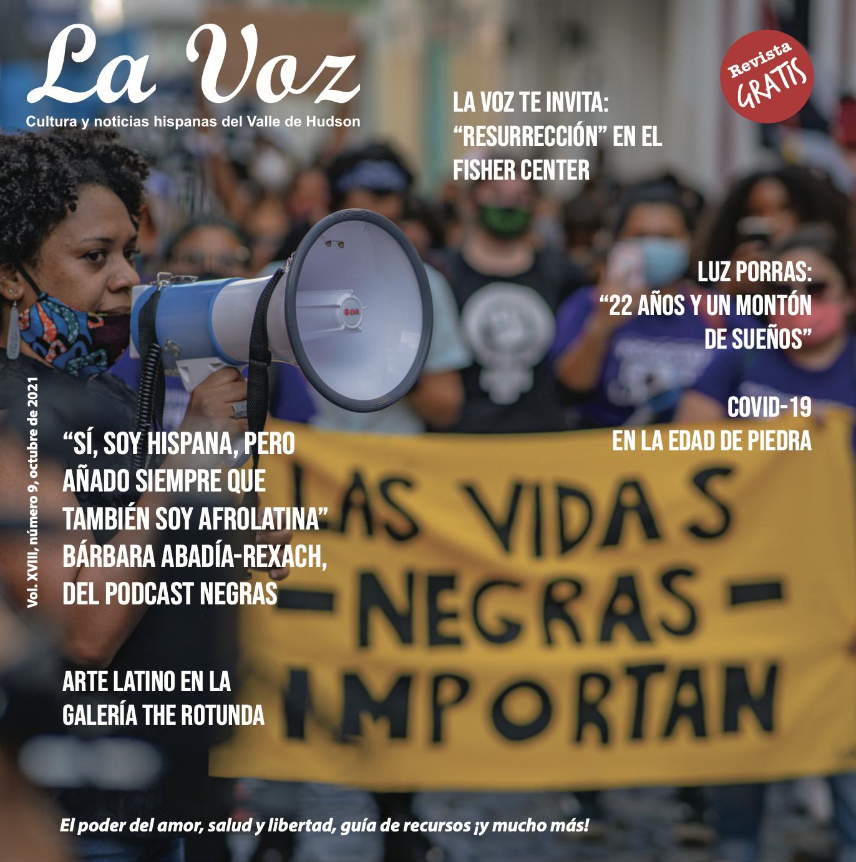 Imagen de la portada de La Voz de octubre, fotografía por Mikey Cordero